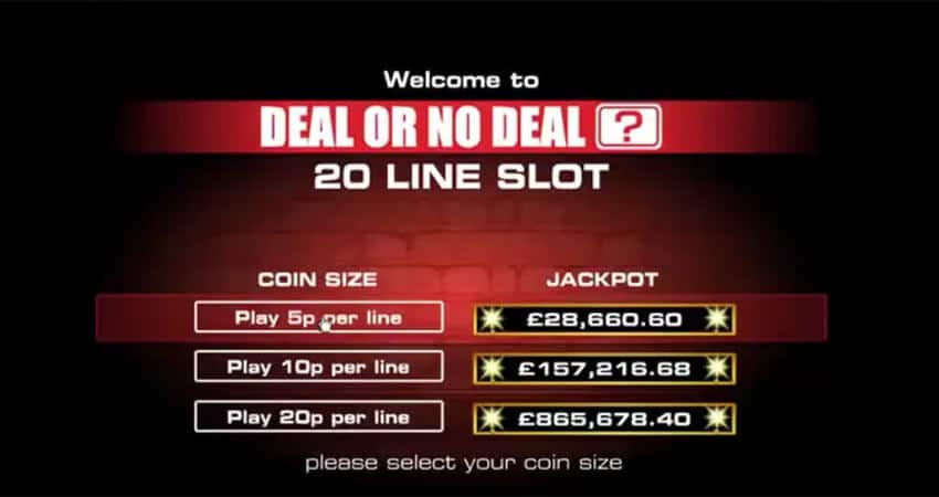 Deal or no deal slot machine game